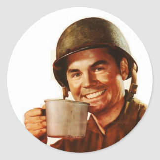 GI Cuppa Joe Classic Round Sticker