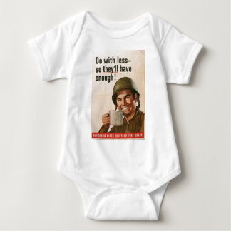 GI Do With Less Poster Baby Bodysuit