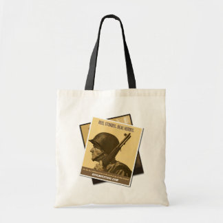 GI Film Festival Vintage Poster Tote (Soldier) Canvas Bags