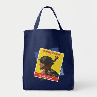 GI Film Festival Vintage Poster Tote  (Soldier) Grocery Tote Bag