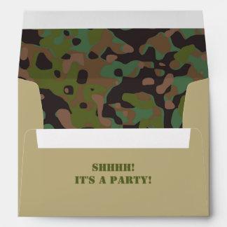 GI JOE Camouflage Party Invitation Envelope