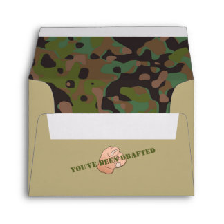 GI JOE Camouflage Party Note Card Envelopes