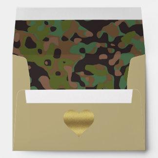 GI JOE Camouflage Party Thank You Card Envelope