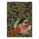 GI JOE Camouflage Party Thank You Note Card