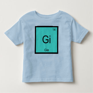 Gia  Name Chemistry Element Periodic Table Tee Shirts