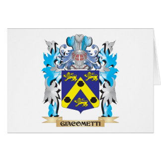 Giacometti Coat of Arms - Family Crest Stationery Note Card