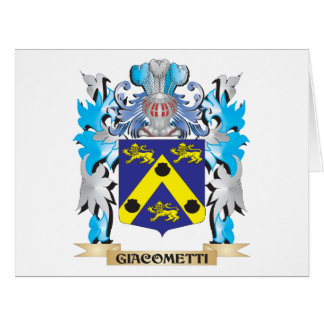 Giacometti Coat of Arms - Family Crest Large Greeting Card