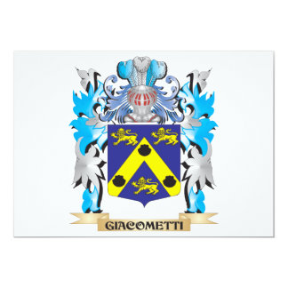 Giacometti Coat of Arms - Family Crest 5x7 Paper Invitation Card