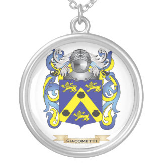 Giacometti Coat of Arms (Family Crest) Round Pendant Necklace