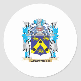 Giacometti Coat of Arms - Family Crest Classic Round Sticker