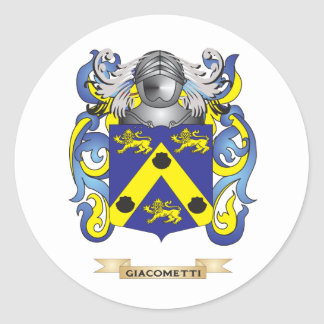 Giacometti Coat of Arms (Family Crest) Classic Round Sticker