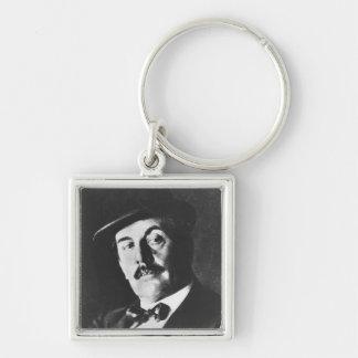 Giacomo Puccini (1858-1924) 1924 (photolitho) (b/w Keychain