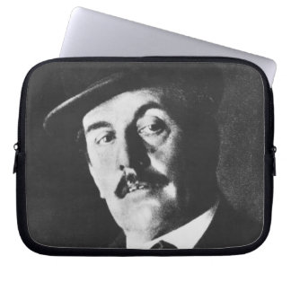 Giacomo Puccini (1858-1924) 1924 (photolitho) (b/w Laptop Sleeve