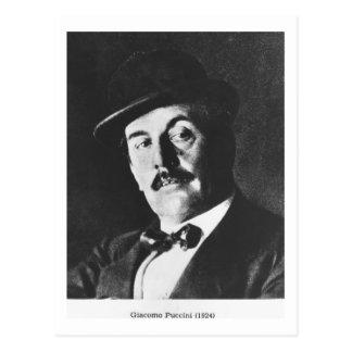 Giacomo Puccini (1858-1924) 1924 (photolitho) (b/w Postcard