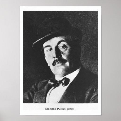 Giacomo Puccini (1858-1924) 1924 (photolitho) (b/w Print