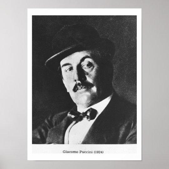 Giacomo Puccini (1858-1924) 1924 (photolitho) (b/w Poster