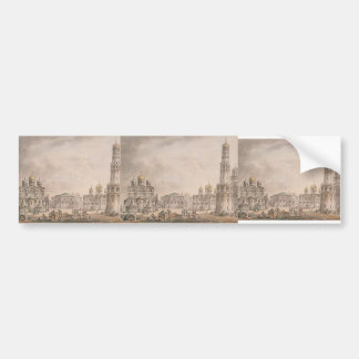 Giacomo Quarenghi-Cathedral Square of Moscow Bumper Stickers