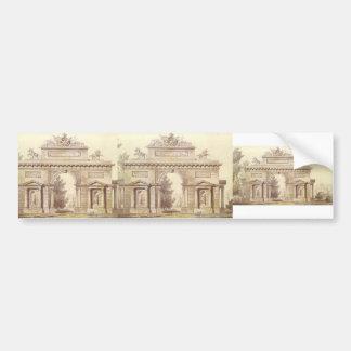 Giacomo Quarenghi- Design of a Triumphal Arch Bumper Sticker
