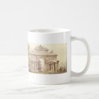 Giacomo Quarenghi- Design of a Triumphal Arch Classic White Coffee Mug
