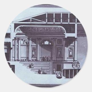 Giacomo Quarenghi- Design of the Hermitage Theater Stickers