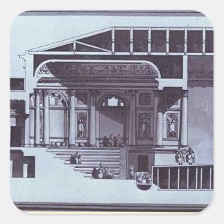 Giacomo Quarenghi- Design of the Hermitage Theater Square Stickers
