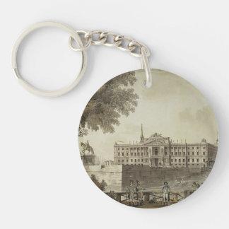 Giacomo Quarenghi- View of Saint Michael's Palace Single-Sided Round Acrylic Keychain