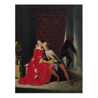 Gianciotto descubre Pablo y a Francisca, 1814 Postales