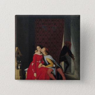 Gianciotto Discovers Paolo and Francesca, 1814 Button