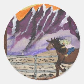 Gianna Bareback Classic Round Sticker