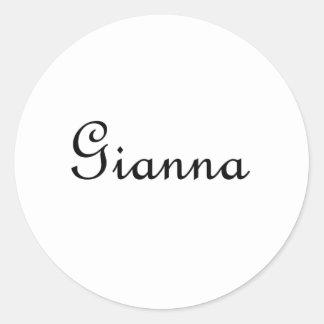 Gianna Classic Round Sticker