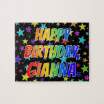 "[ Thumbnail: ""Gianna"" First Name, Fun ""Happy Birthday"" Jigsaw Puzzle ]"