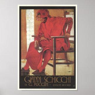 Gianni Schicchi Opera Poster