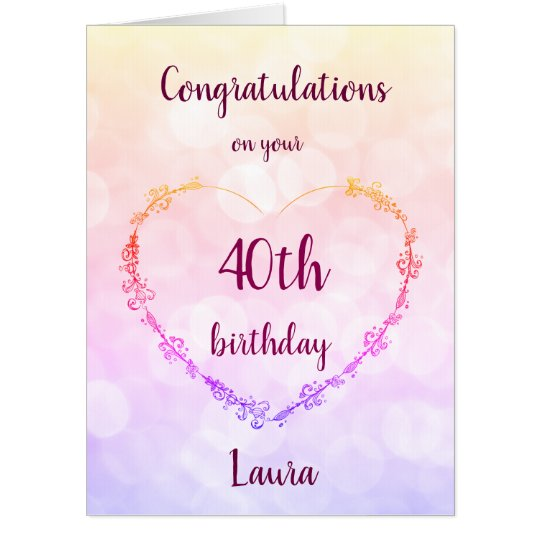 Giant 40th Birthday Card