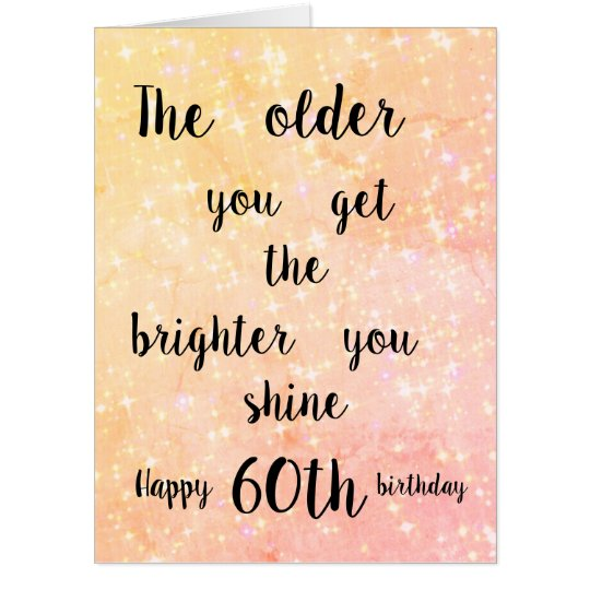 Giant 60th Birthday Card