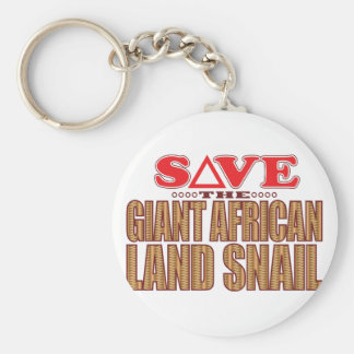 Giant African Land Snail Save Basic Round Button Keychain