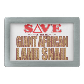 Giant African Land Snail Save Belt Buckle
