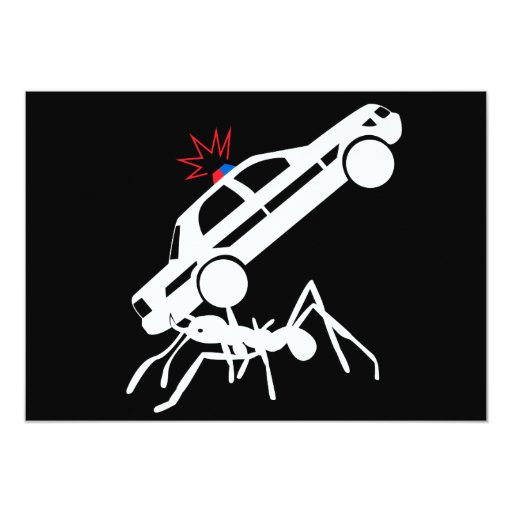 Giant Ant Attack Invitations
