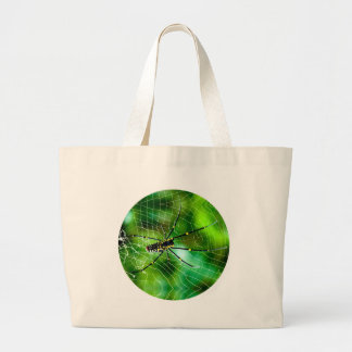 Giant Argiope Spider Tote Bags