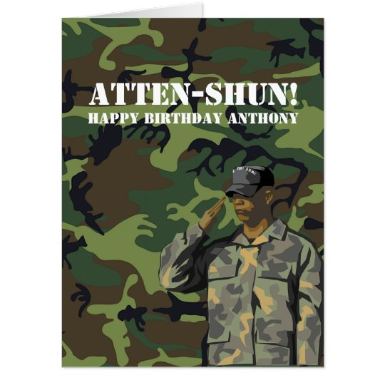 Giant Army Themed Birthday Party Card Zazzle