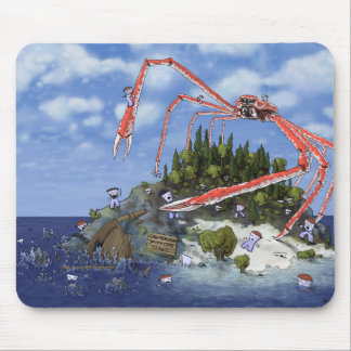 Giant Attacking Spider Crab Island Mouse Pad