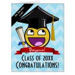 Giant Awesome Face Graduation Custom Big Card