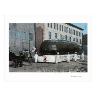 Giant Baked Potatoe Float Scene Postcard