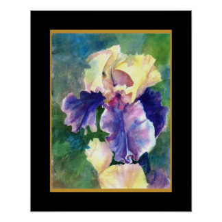 Giant Bearded Iris Poster