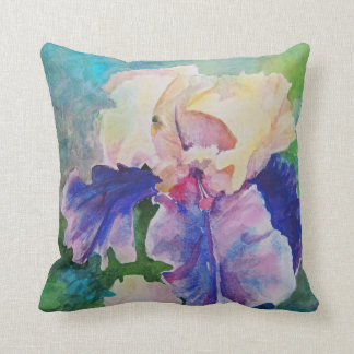 Giant Bearded Iris Throw Pillow