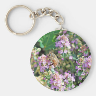 Giant Bee II Basic Round Button Keychain