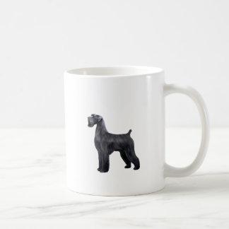 Giant Black Schnauzer - standing Coffee Mug