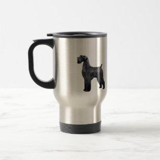 Giant Black Schnauzer - standing Travel Mug