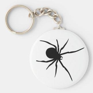 Giant Black Spider Basic Round Button Keychain