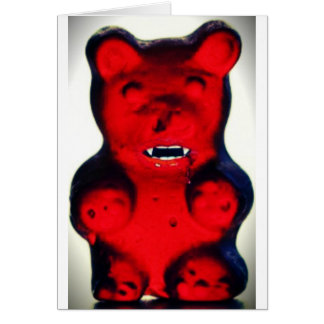 Giant Blood Sucking Candy Bear Card