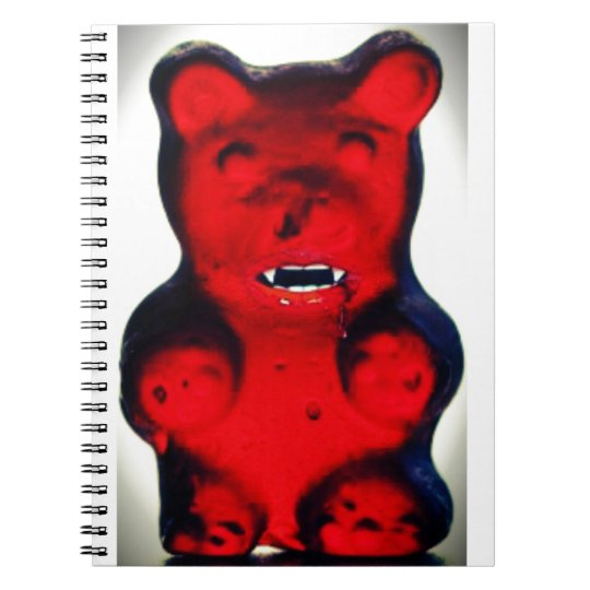 Giant Blood Sucking Candy Bear Notebook